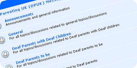 Deaf Parenting UK (DPUK) Forums